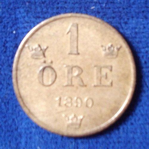 1890 Sweden Ore UNC