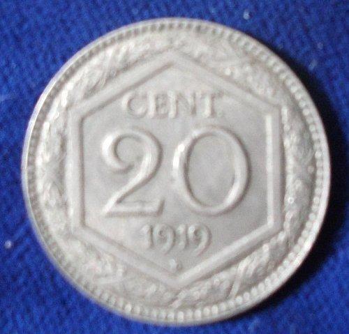 1919 Italy 20 Centesimi XF