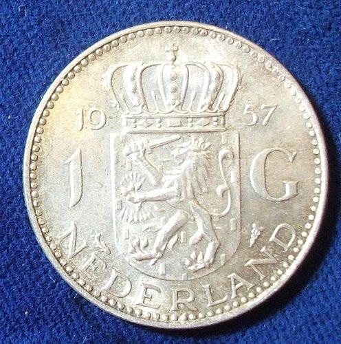 1957 Netherlands Gulden BU