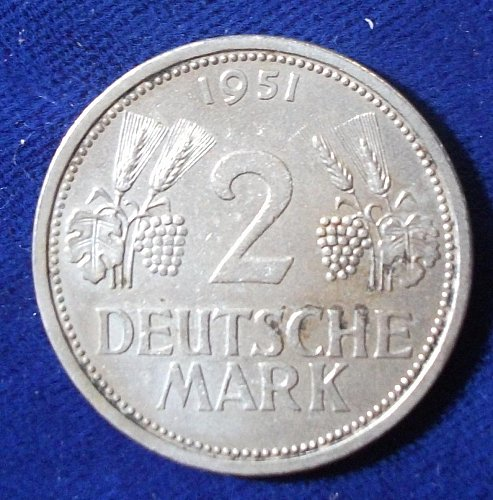 1951J Germany/Federal Republic 2 Mark AU