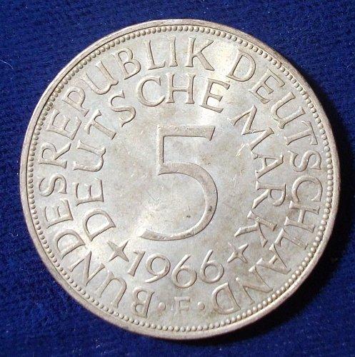 1966F Germany/Federal Republic 5 Mark AU