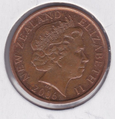 2006 New Zealand Coin 2006, Maori Mask, 10 Cents - IRB