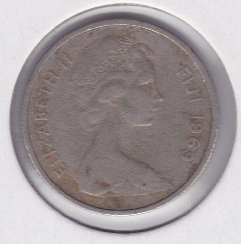 1969 Fiji 5 cents - Boat