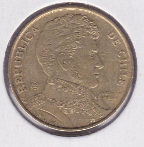 2007 - Chile  - 10 Pesos Aluminum-Bronze Coin - Bust of Gen. Bernardo O'Higgins