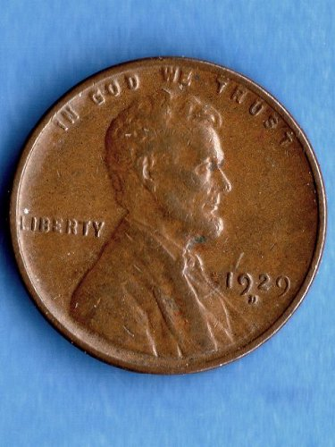 1929 D Lincoln Head Penny Genuine Natural US Coin Nice