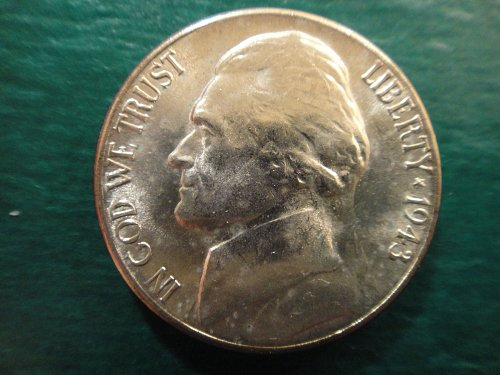1943-S Jefferson Nickel MS-64 (Near Gem) 2 Steps Nice WHITE with Strong Strike!