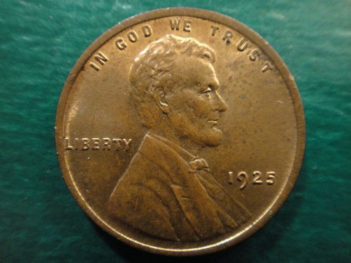 1925 Lincoln Cent MS-63 (Choice BU) Red Brown With Razor Sharp Wheat Lines!