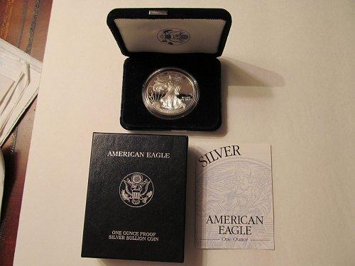 1999 Silver American Eagle One Dollar