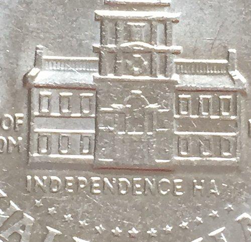1976 Bicentinnial Kennedy Half Dollar Missing Letters