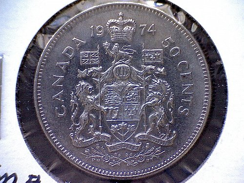 1974 CANADA 50 CENT COIN