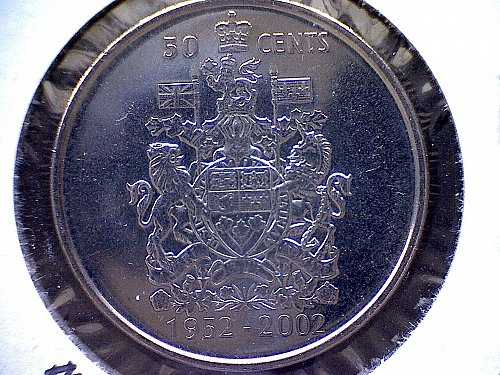 1952 - 2002-P CANADA 50 CENT COIN     QUEEN ELIZABETH 11 GOLDEN JUBILEE