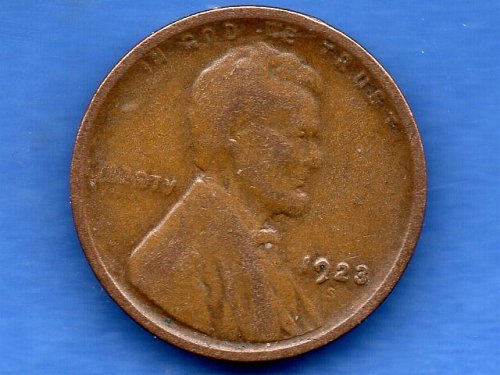 1923 S Lincoln Head Penny Genuine Natural US Coin Money Nice