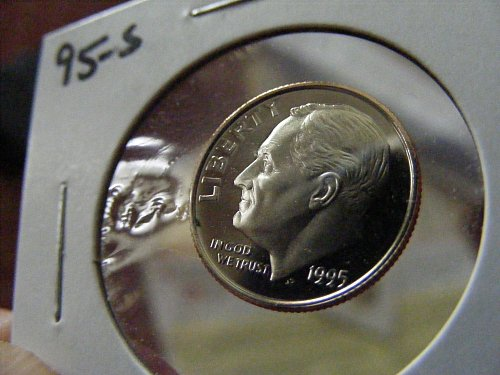 1995 S DC Proof Roosevelt Dime