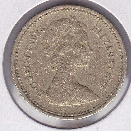 1984 England One Pund - 1 Pound