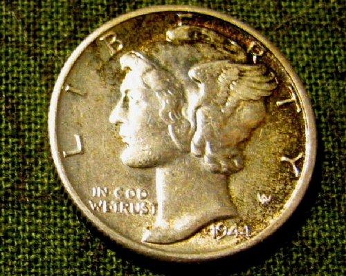 1944 S Mercury Dime Nice near FULL BANDS Win 4 Bids in 1 week, Get 7 FREE DIMES