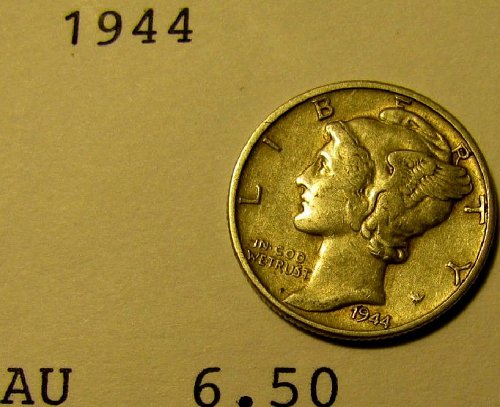 1944 Mercury Dime  choice  +  2 FREE DIMES*A-20