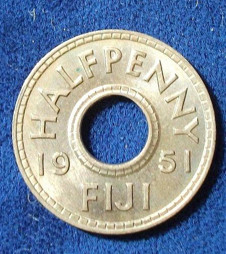 1951 Fiji Half Penny BU