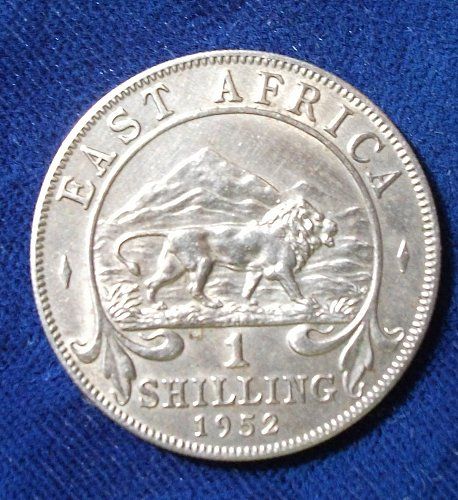 1952 East Africa Shilling XF