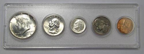 1964 P Mint Set Kennedy Half, Quarter, Dime, Nickel, Cent