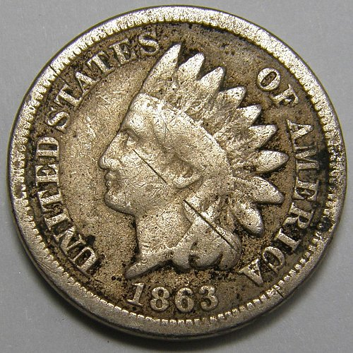 1863 Indian Head Cent #14