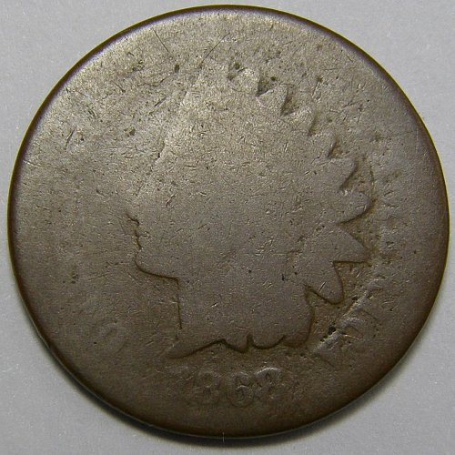 1868 Indian Head Cent #10