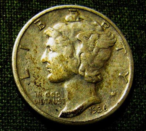 1936 S nMercury Dime  Winner gets 3 more FREE Mercuries!!  A-40