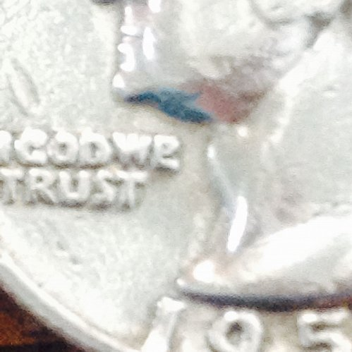 """1958 d washington quarter Die error Lowercase """"E"""" only one found of its kind"""