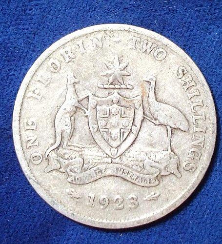 1923 Australia Florin Fine