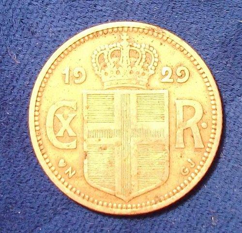 1929 (h)N GJ Iceland Krona VF