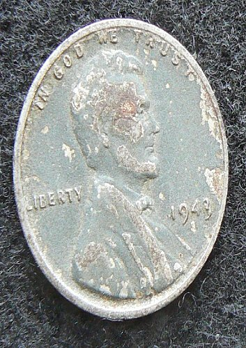 1943 S Lincoln Wheat Cent (VF-20)