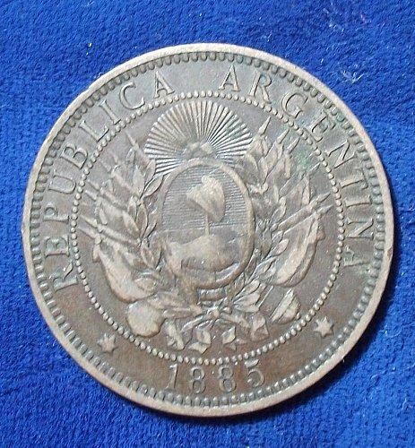 1885 Argentina 2 Centavos VF