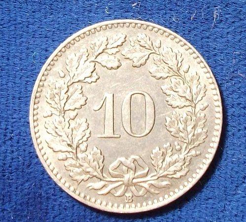 1930 Switzerland 10 Rappen XF