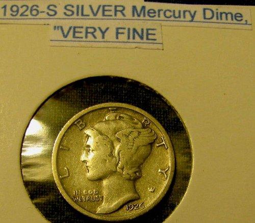 1926 S Silver mercury Dime-a KEY -Win 4 bids in 1 week, GET 7 FREE Dimes*****