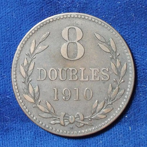 1910 Guernsey 8 Doubles VF