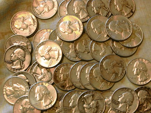 94 washington Quarters, all1960's, VF to mint
