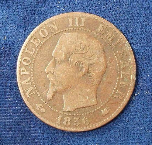 1856K France 5 Centimes Fine