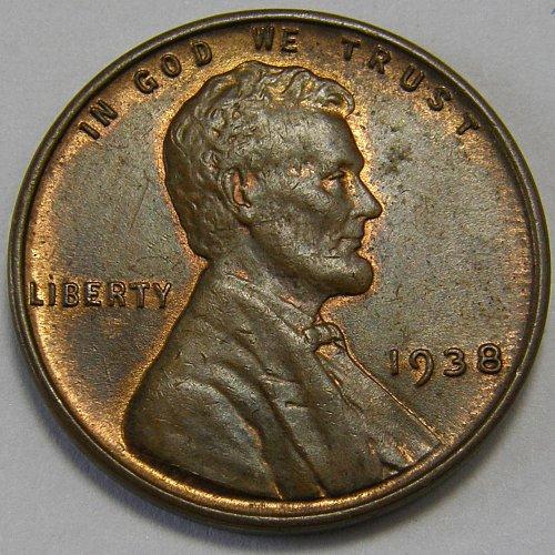 1938 P Lincoln Wheat Cent #5