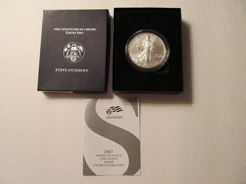 2007 Silver American Eagle dollar