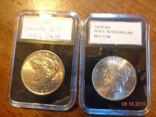 1922p Peace silver dollar A/U B/U
