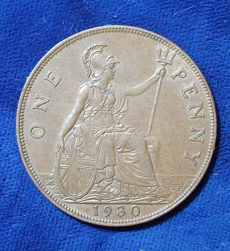 1930 Great Britain Penny XF