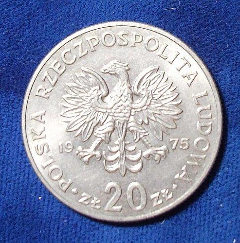 1975 Poland 20 Zlotych UNC