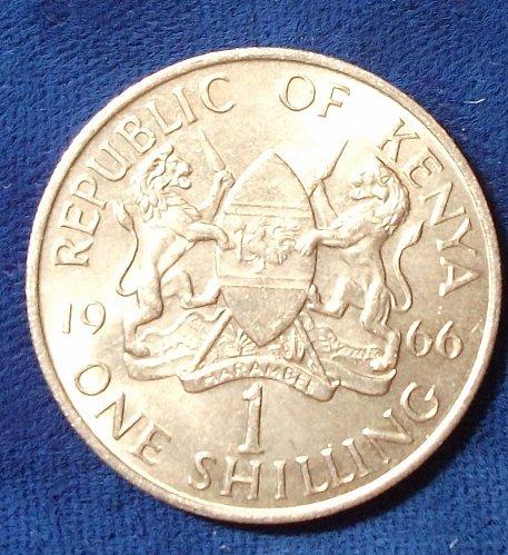 1966 Kenya Shilling BU