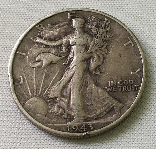 1943 S Walking Liberty Half Dollar