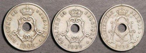 Belgium 25 Centimes 1908-1910