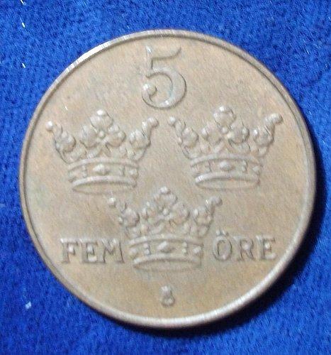 1940 Sweden 5 Ore XF
