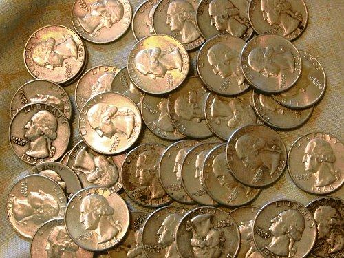 Washington Quarters 50 of them Fto VF ,  34 quarters date 1940 to 1949,  16 quar