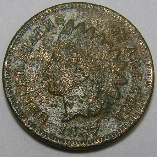1867 Indian Head Cent #11