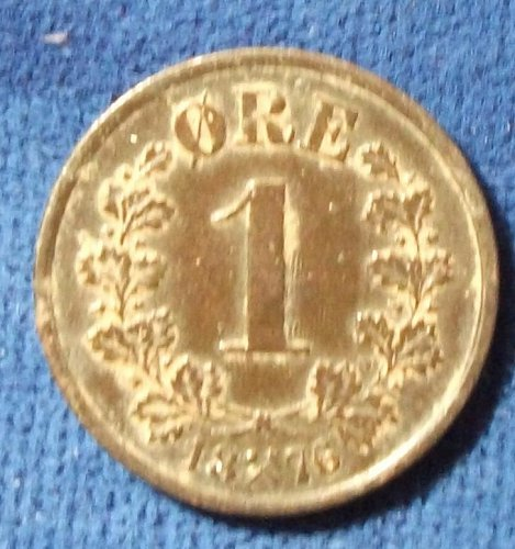 1876 Norway Ore VF+ details