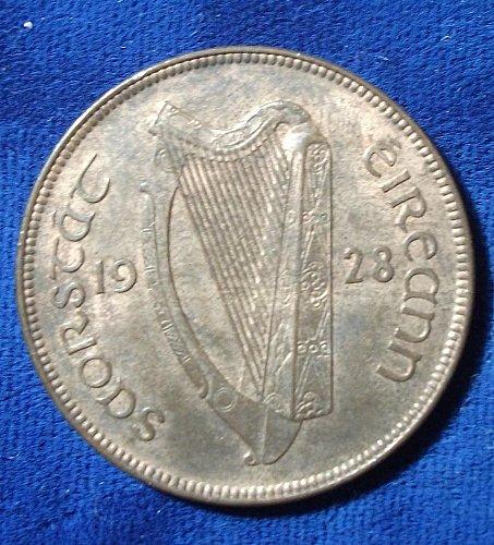1928 Ireland Penny AU+