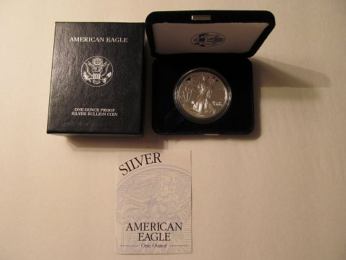 2000 Proof Silver American Eagle